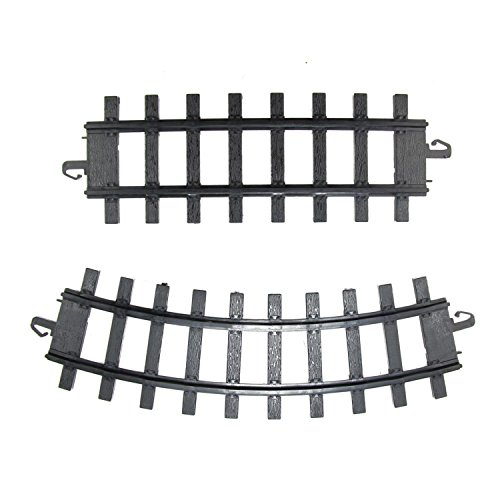 Northlight Pack of 12 Black Replacement Train Set Track Pieces - 4 x 10