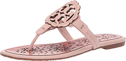 Tory Burch Miller Scallop Flip Flop Leather Thong Sandal (9.5, Sea Shell Pink)