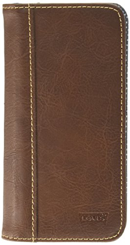 Price comparison product image Levi's Men's Magnetic 2 in 1 Iphone 6/6S Wallet Case, Brown, One Size