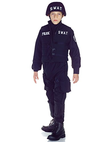 Underwraps Swat Police Kids Costume Blue -