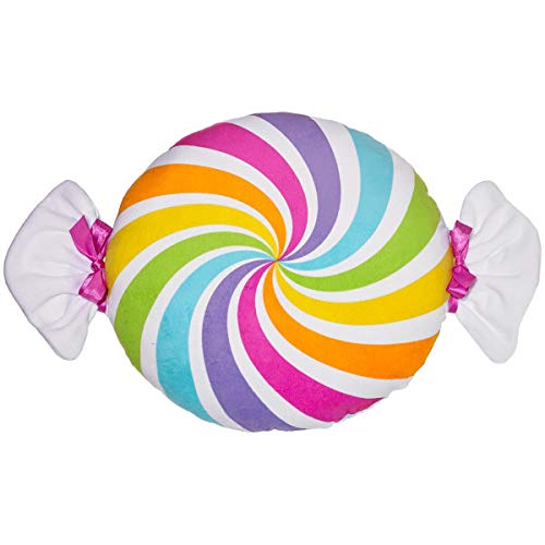 3C4G Candy Swirl Super Sweet Printed Velour Pillow, Scented (Candy Pillows)