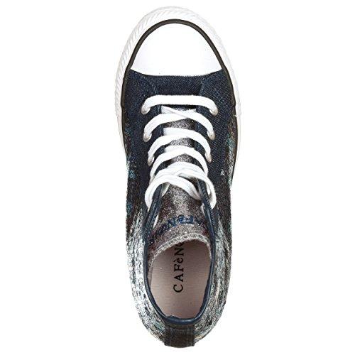 CafèNoir Caf-mdg914bl_35 - Zapatillas de tela para mujer azul turquesa 35
