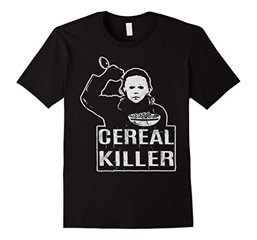 [Men's Cereal Killer Funny Halloween Shirt-Funny Pun Tees Scary Foo 2XL Black] (Cereal Killer Costumes)