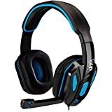 S42 Gaming Over-Ear Noise Cancelling Headsets Headphones with Soft Memory Earmuffs Earcups/Bass Surround / 3.5mm Splitter Cable for PS4, PSP, Playstation, Xbox One, Nintendo Switch, PC Mac Laptop