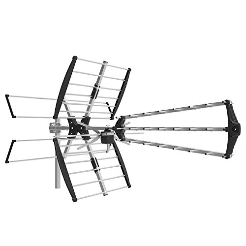 1byone Digital Outdoor / Roof HDTV Antenna, High Gain VHF / UHF Combo TV antenna, 75 Miles Range Extremely High Performance TV - Antenna Gain Uhf High