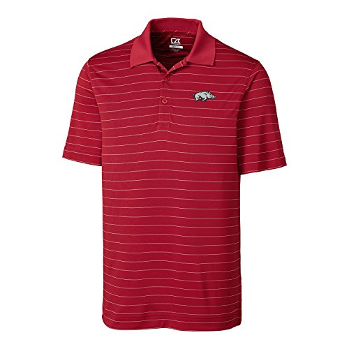 NCAA Arkansas Razorbacks  Men's CB Dry Tec Franklin Stripe Polo,XX-Large,Cardinal - Arkansas Men