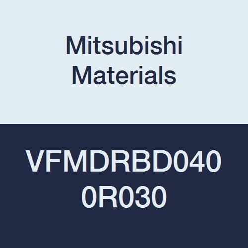 0.3 mm 12 mm LOC Medium Flute 6 Flutes Mitsubishi Materials VFMDRBD0400R030 Carbide Impact Miracle Corner Radius End Mill for Difficult-to-Cut Material 4 mm Cutting Diameter