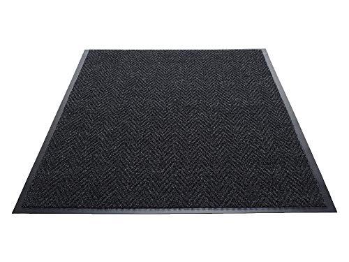 (Guardian Golden Series Chevron Indoor Wiper Floor Mat, Vinyl/Polypropylene, 4'x6', Charcoal (Renewed))