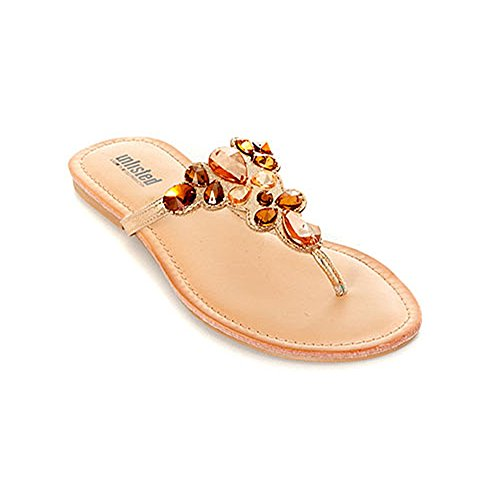 (Kenneth Cole Unlisted Modern Coin Jeweled Thong Sandals (8 B(M) US, Champagne))