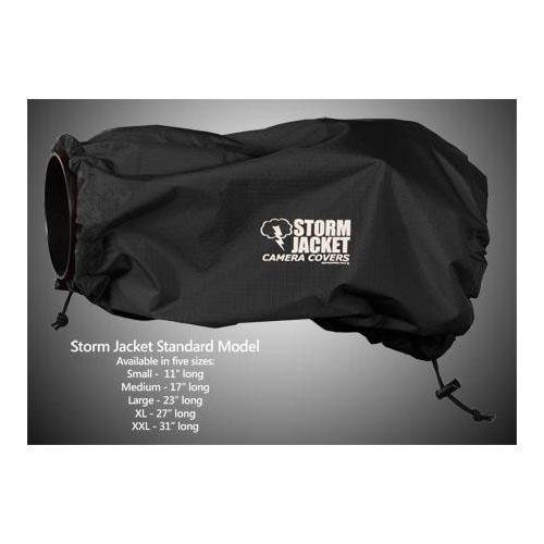 Vortex Media Storm Jacket Cover for an SLR Camera with a Extra Long (XL) Lens Measuring 14'' to 27'' from Rear of Body to Front of Lens, Color: Black