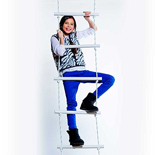 """Fun and Function Climbing Ladder for Improving Balance & Building Confidence – Holds Up to 150 Pounds, 82""""x19"""" for Age 4+ by Fun and Function"""