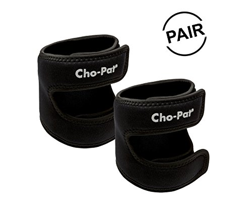 Cho-Pat Dual Action Knee Strap (Pair) - Provides Full Mobility & Pain Relief for Weakened Knees - Black (Medium, 14