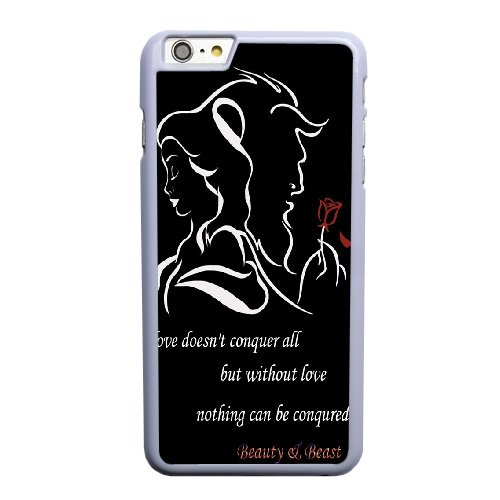 Coque,Coque iphone 6 6S 4.7 pouce Case Coque, Beauty And The Beast Case Covers Cover For Coque iphone 6 6S 4.7 pouce Cell Phone Case Cover blanc