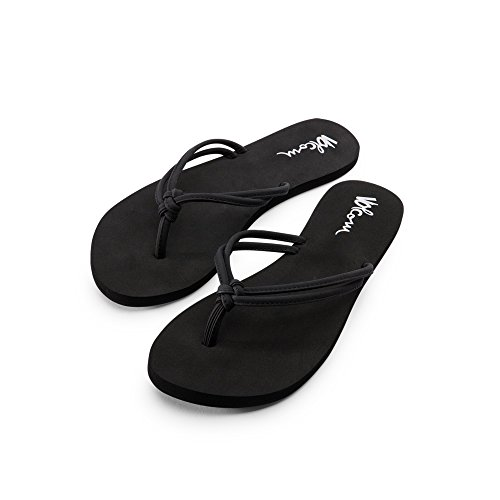 Volcom Ladies Jeans - Volcom Forever and Ever Womens Sandal Dress, Black, 9 W US