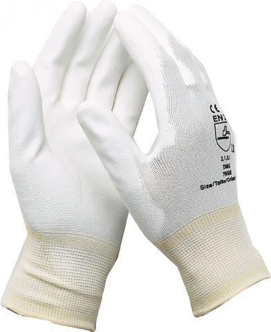 Montage Gants Gants de travail é lectricien mé canicien Gants nylon avec PU blanc taille 9/12 paires Spitzenspannung Elektrotechnik