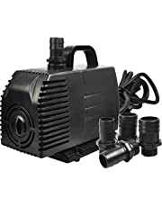 Simple Deluxe 1056 GPH Submersible Pump with 15' Cord, Water Pump for Fish Tank, Hydroponics, Aquaponics, Fountains, Ponds, Statuary, Aquariums & Inline, Black