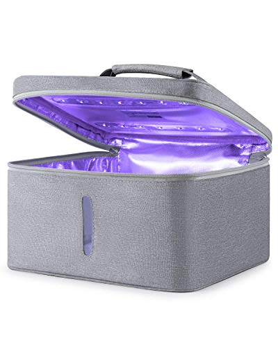 ESTERILIZADOR UV, UV Luz Lámpara, Lámpara de, Portátil Desinfectante, UV-C LED 265nm Para biberón, joyería, herramientas de belleza – 99% limpiado [Llegada en 3-10 Días]
