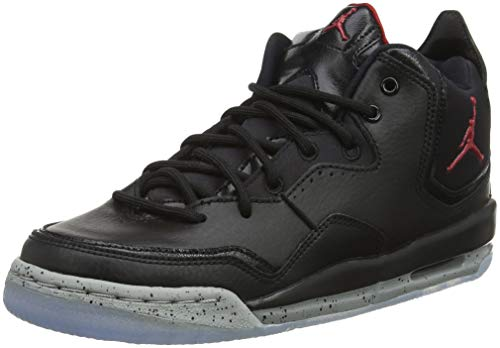 Jordan Nike Kids Courtside 23 (GS) Black/Gym Red Particle Grey Basketball Shoe 6 Kids US (Red And Black 23 Jordans)