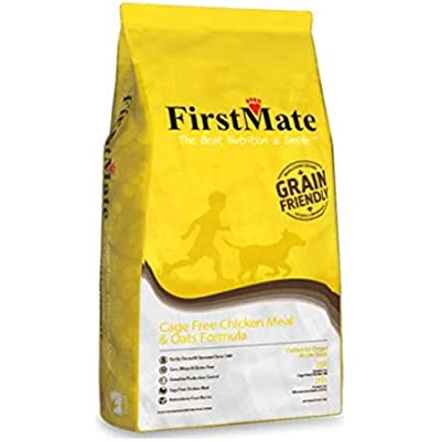 FirstMate Cage Fee Chicken Meal and Oats Formula, 5 Pounds, Grain Friendly Diet for Dogs