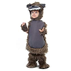 Boo! Inc. Furry Wolf Costume | Kid's Halloween Werewolf Dress Up