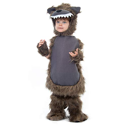 Boo! Inc. Furry Wolf Costume | Kid's Halloween Werewolf Dress Up (3-4)