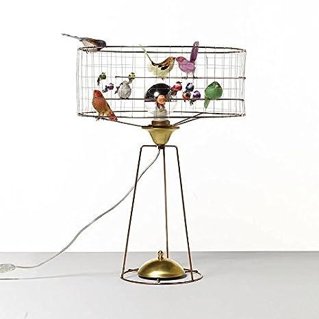 Belle Maison La Volière Tambour Mesa de Jaula de pájaros lámpara ...