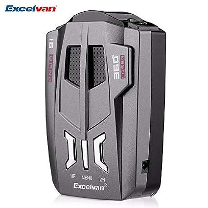 Amazon.com: China : Excelvan V9 Car Radar Detector 360 Degrees 16 Band LED Display Russia/English Voice Alert Warning Anti Radar Detector: Home & Kitchen