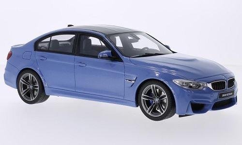 BMW M3 (F80), metallic-hellblau/Carbon, 2014, Model Car, Ready-made, GT spirit 1:18