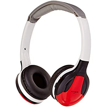 XO Vision Universal Infrared Wireless Foldable Headphones for In-Car TV, DVD, & Video Listening - Red (IR630R)