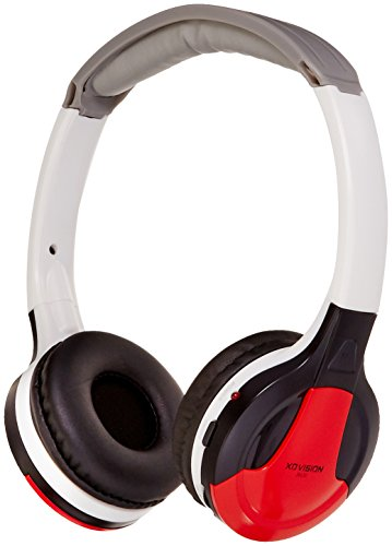 XO Vision IR630R Universal IR in Car Entertainment Wireless Foldable Headphones, Red