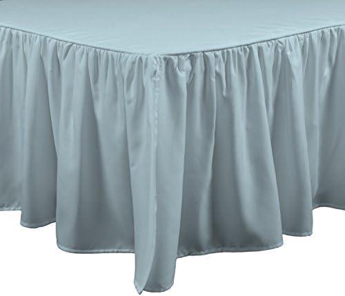 Brielle ストリームベッドスカート ツイン ホワイト ツイン ブルー 807000222414