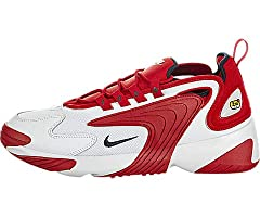 The Nike Zoom 2K has a design inspired by the 90s with the addition of new footwear technology. They have a combination leather and textile upper, Zoom Air technology, built- in inner sleeve, heel pull tab, and a rubber outsole.