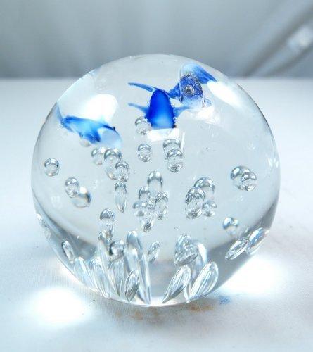 M Design Art Handcraft Glass Twins Dolphin Crystal Handmade Glass