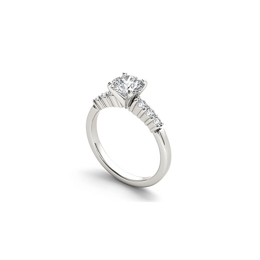 De Couer 14k White Gold 1ct TDW Diamond Classic Engagement Ring (H I, I2)