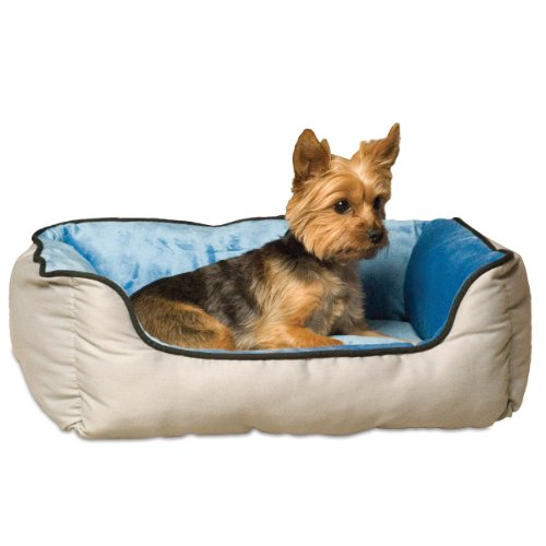 (K&H Pet Products Self-Warming Lounge Sleeper Pet Bed Small Gray/Blue 16