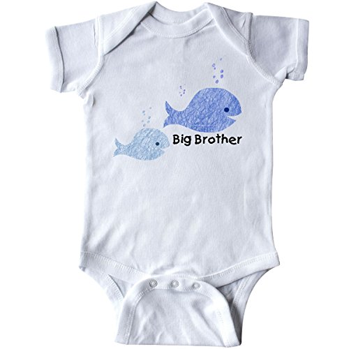 inktastic Big Brother with Lil' Brother Infant Creeper 12 Months White