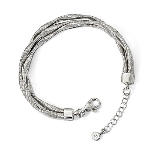 925 Sterling Silver Rhodium-plated 3-strand Bracelet by Diamond2Deal
