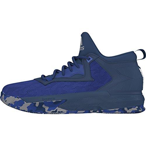 adidas D Lillard 2, Zapatillas de Baloncesto para Hombre Royal/Tech Steel/White