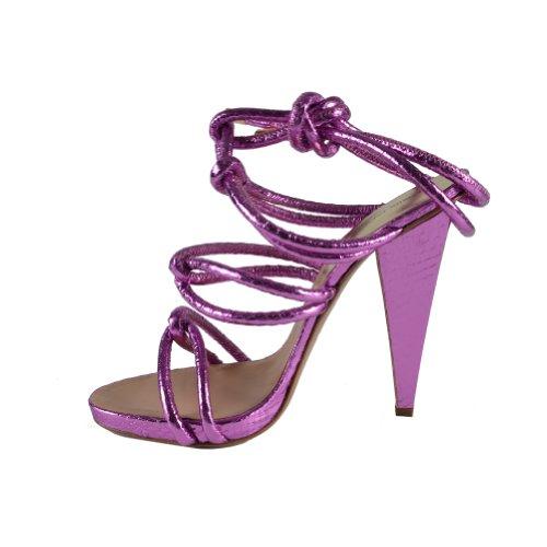 Dsquared Femmes Fuxia Envelopper Autour De La Cheville Sangle Sandales Chaussures Fuxia