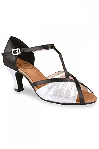 RoTate Toni Damen Standardtanzschuhe schwarz/silber