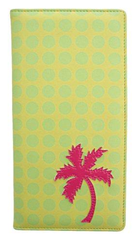 Santa Barbara Design Studio Bombay Duck Travel Wallet, Bon Voyage Lime Spots With Palm Tree