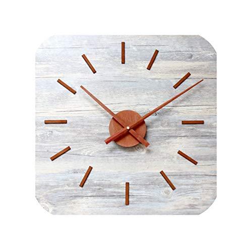 Wenzi-day DIY Wall Clock Vintage Rust Metal Creative Fashion Simple Watch Silence