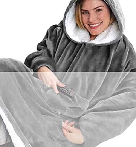 Kids Hoodie Blanket Oversized Hooded Fleece Sweatshirt Giant Big Plush Pullover