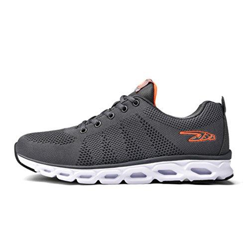 Ammortizzazione Scarpe Da Corsa Leggere Tutte Le Sneaker Traspiranti Traspiranti Sneakers Da Viaggio Grigio