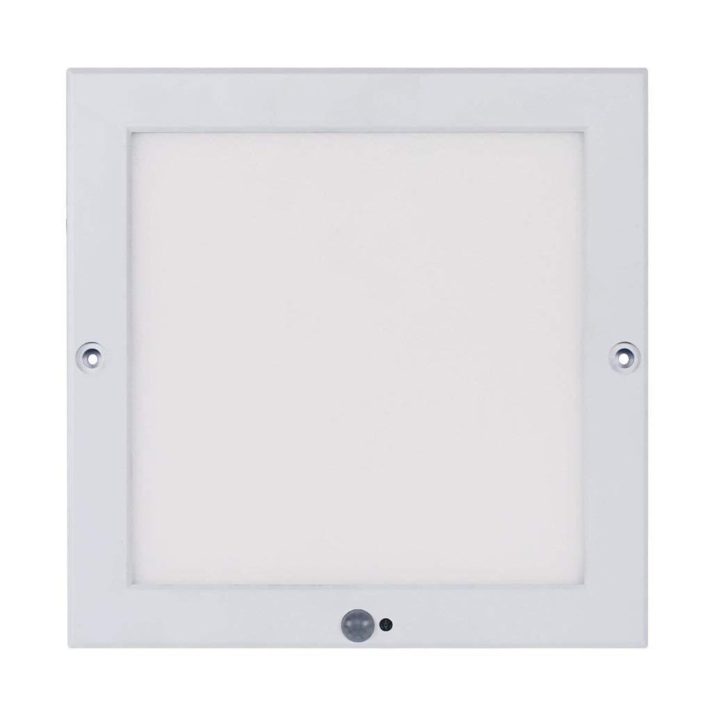 Ultraslim LED Panel Sensor 18W Deckenlampe mit Bewegungsmelder + Dämmerungssensor Tagesweiß (4000 K) [Energieklasse A+] Xing ruiying