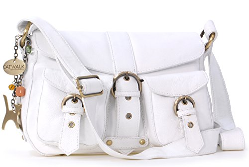 Sac Collection signé Louisa Blanc Besace en Catwalk cuir qSwHfq