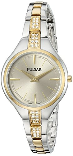 Pulsar Women's Quartz Stainless Steel Casual Watch, Color:Two Tone (Model: PM2240)