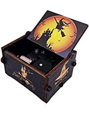 The Nightmare Before Christmas Painted Music Box Hand Crank Musical Box Carved Wood Musical Gifts for Fans
