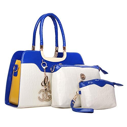 Sac De Vacances élégant Dame Main Shopping à Sac 3 De Bandoulière De Whiteblue Pièces à Tempérament 7wE4w