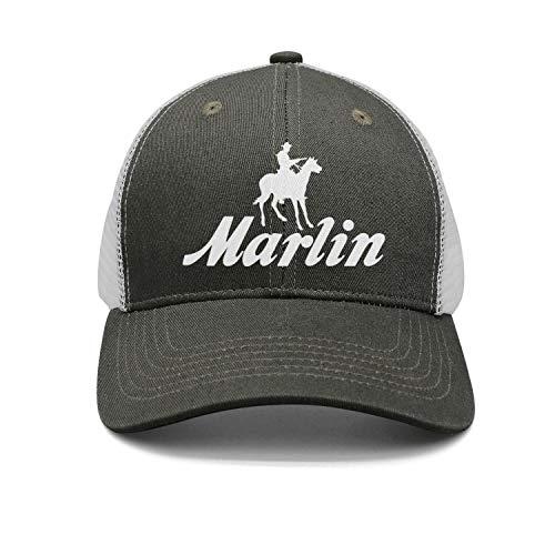 (Lexic 77 Men's Women's Dad Cap Trucker-Marlin-Firearms-Hat Outdoor Breathable Baseball Snapback Adjustable )